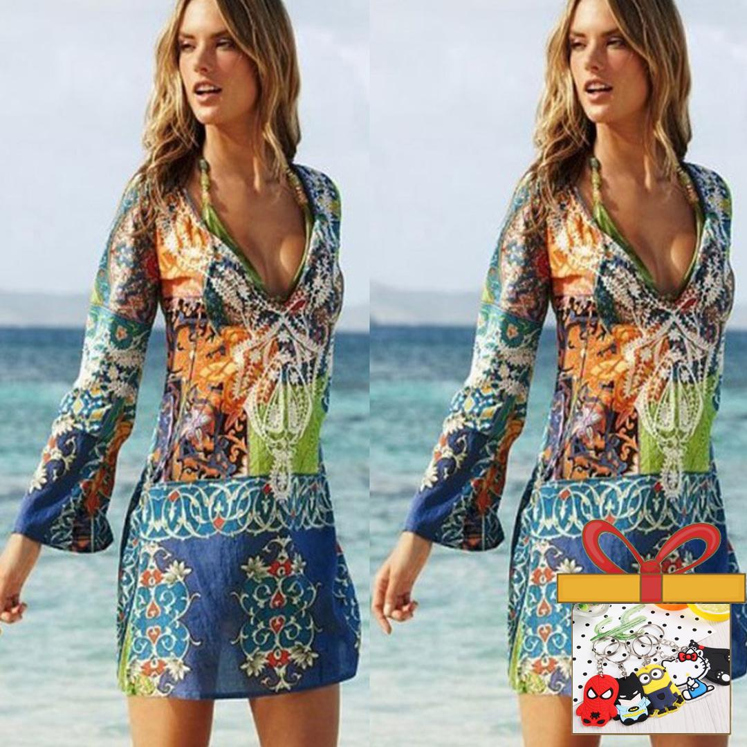 bd7d2195d9 Women Chiffon Bikini Cover Up Beach Swimwear Dress Scarf Pareo Sarong Wrap  - intl