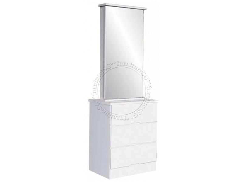 (FurnitureSG) Gloss White Dressing Table