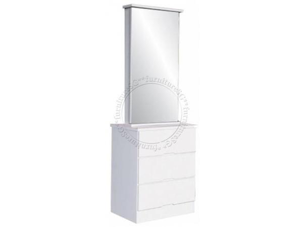 (FurnitureSG) Gloss White Dressing Table