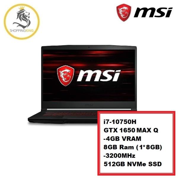 MSI - 60 Hz, 15.6 GF Series Gaming Laptop GF63 Thin 10SCXR (GTX 1650) [Warranty: 2 Year]