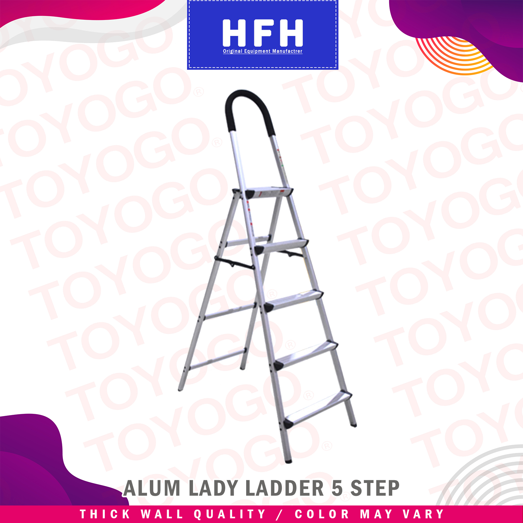 Toyogo Alum Lady Ladder (5 Step) (HFH5405)