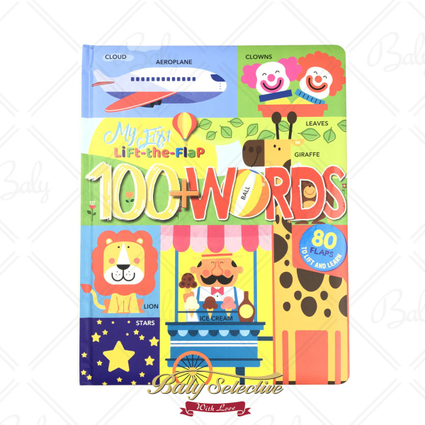 My First Lift-the-Flap 100+ Words by Nextquisite English Word Recognition Learning Book for 0+ Year Old Baby Children Kids Subjects Include Animals Transportation Food Body Clothes Playtime Numbers Colors Opposites