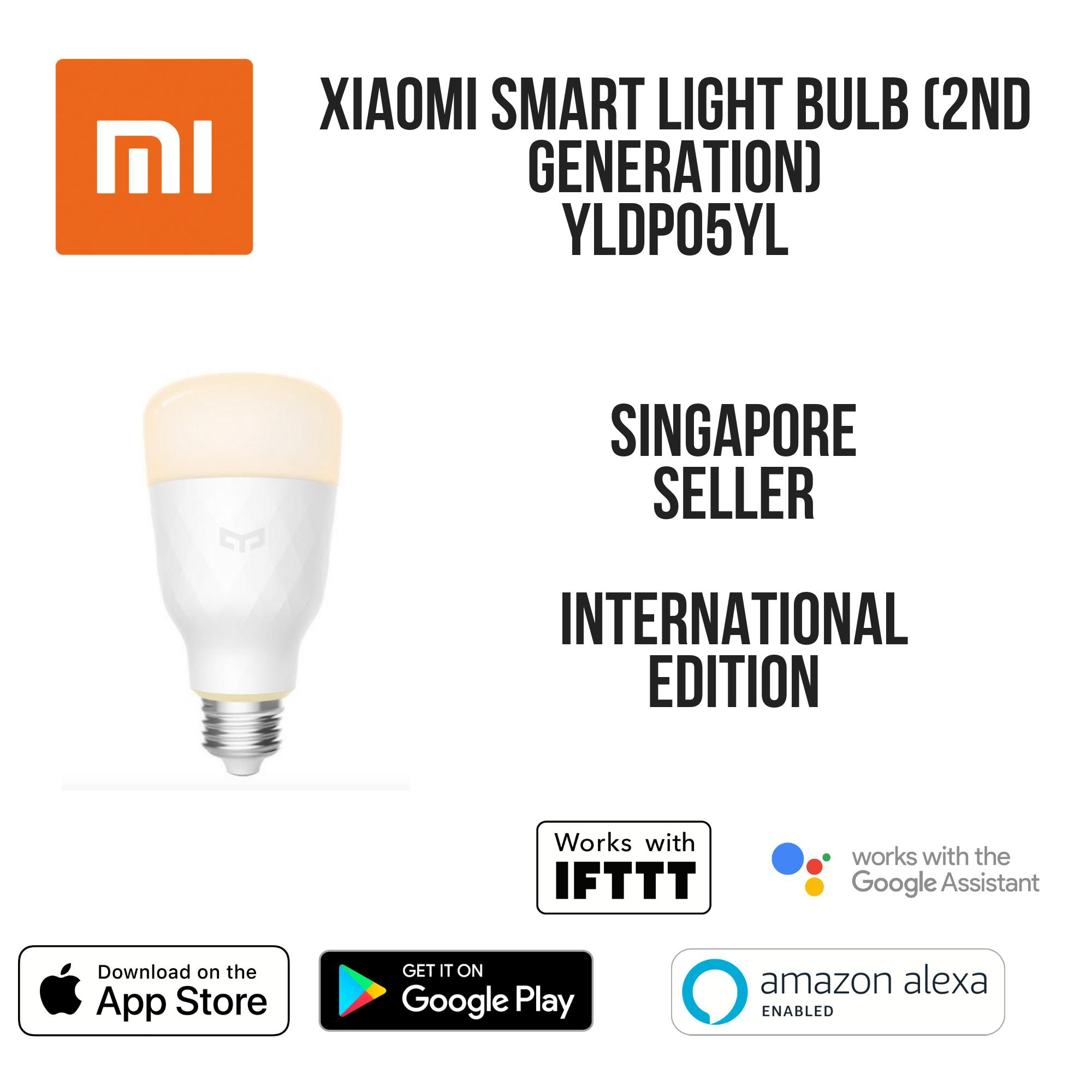 Xiaomi Yeelight Smart LED Wifi Smart Bulb E27 (2nd Generation) by Yee light  - Works with Google Home / Assistant, Amazon Alexa / Echo, IFTTT