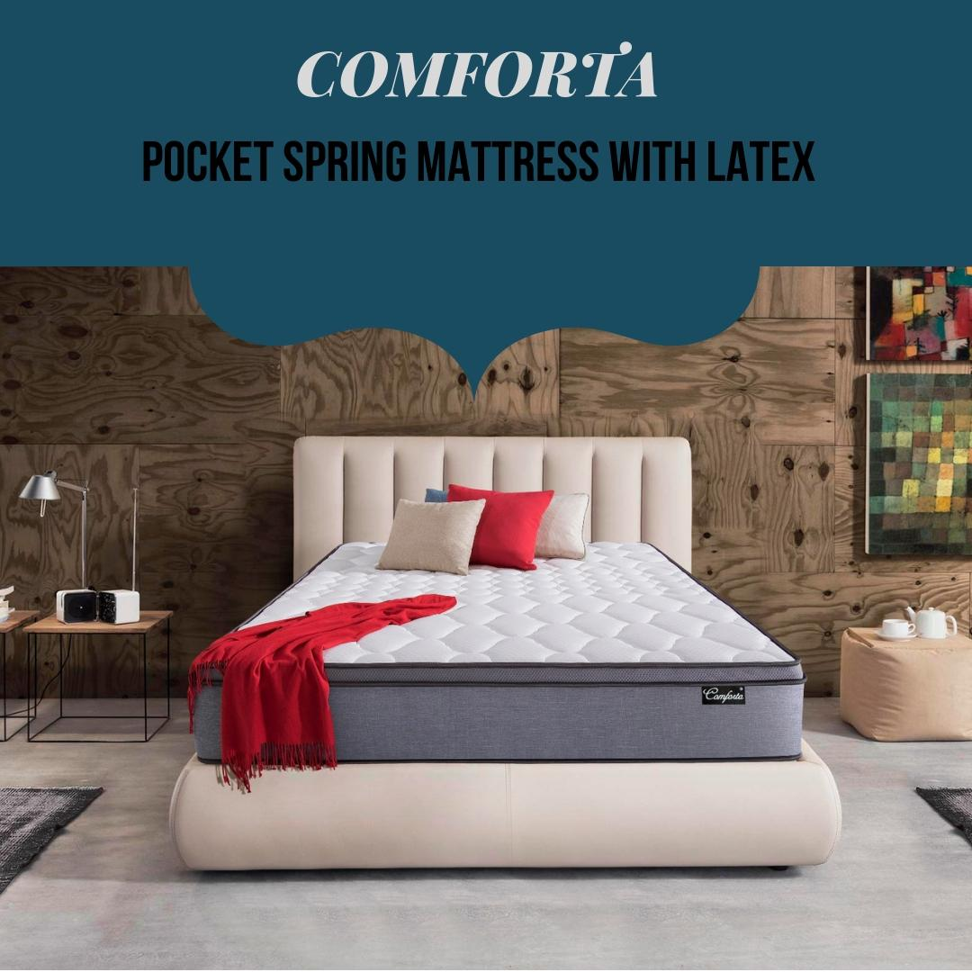 [Furniture Ambassador] Comforta 10 Inch Latex Pocketed Spring Mattress