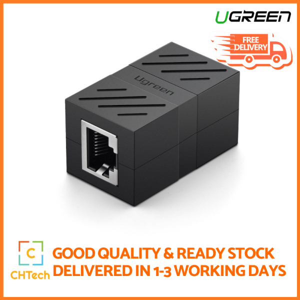 UGREEN Rj45 Coupler, In Line Coupler Cat7 Cat6 Cat5E Ethernet Cable Extender Adapter Female To Female One Size Black