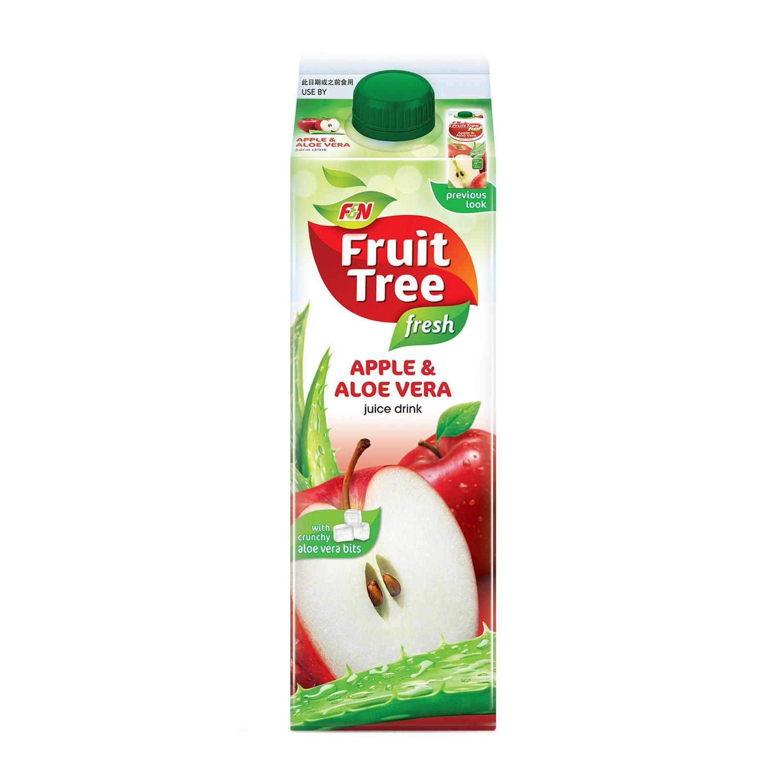Fruit Tree Fresh Apple Juice With Aloe Vera Bits Less Sugar