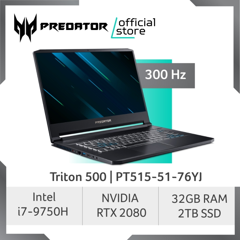 [BEST OF THE BEST] Predator Triton 500 PT515-51-76YJ NEW Gaming Laptop with NVIDIA RTX 2080 Graphic (MAX-Q) and 300 Hz