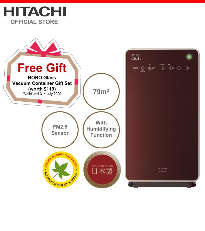 Made In Japan, Hitachi Auto Self Clean Air Purifier & Humidifier w/ Skin Moisturizing, PM2.5 Sensor, 79 metre square, EP-L110E Singapore