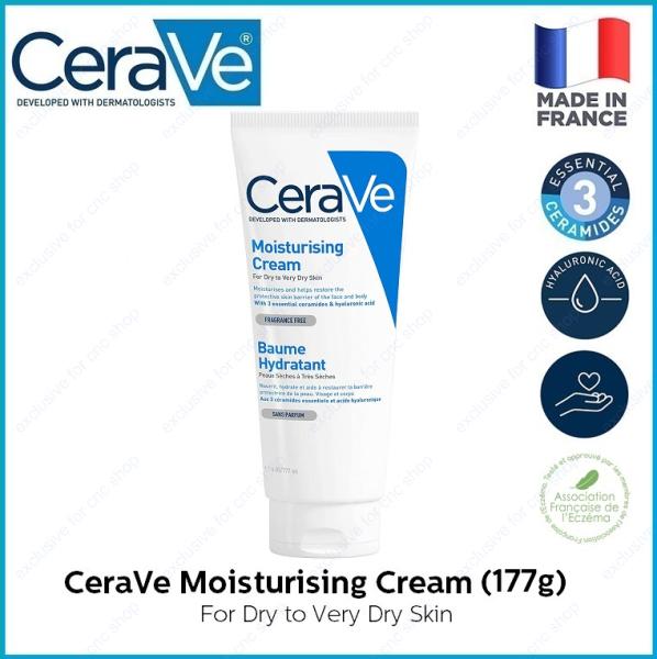 Buy CeraVe Moisturizing Cream (177g / 454g / 539g) Tube Pump Daily Face and Body Moisturizer for Normal to Dry Skin Moisturising Singapore