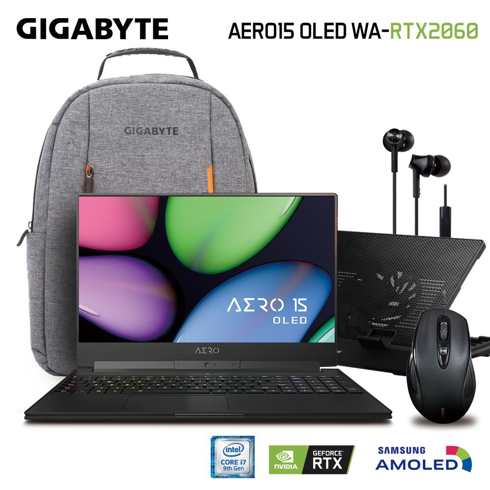 GIGABYTE AERO 15 OLED WA (i7-9750H/16GB SAMSUNG DDR4 2666 (8GB*2)/GeForce RTX 2060 GDDR6 6GB/512GB INTEL 760P PCIE SSD/15.6 Thin Bezel Samsung 4K UHD AMOLED/WINDOWS 10 PROFESSIONAL) [Ships 2-3 days]