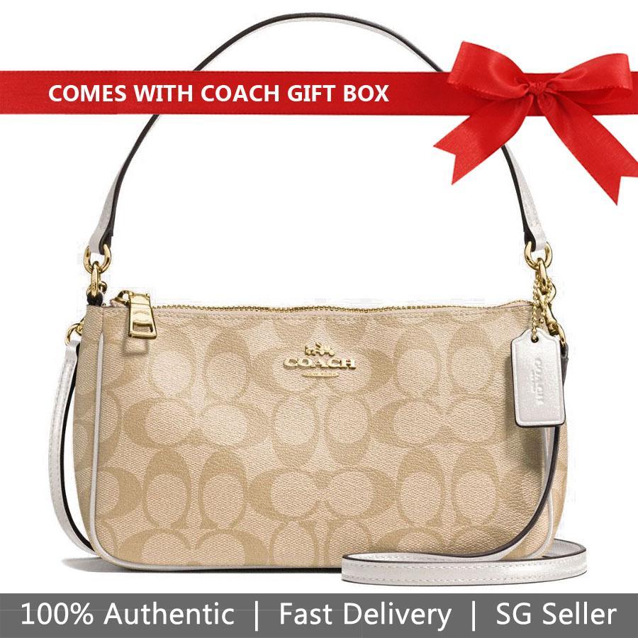 19e6ec9ed6 Coach Crossbody Bag In Gift Box Messico Top Handle Pouch In Signature  Crossbody Bag Handbag Light