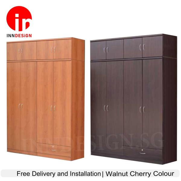 [SPECIAL DISCOUNT] 5ft 8 Doors Wardrobe With Drawer (Free Delivery and Installation) (Next Day Delivery) (6 Months Warranty)