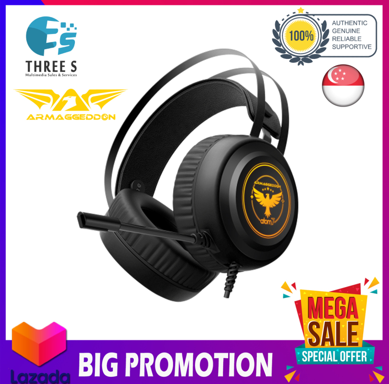 ARMAGGEDDON ATOM 7 THE ULTIMATE 2.1 GAMING HEADSET FOR PHONE & PC Singapore