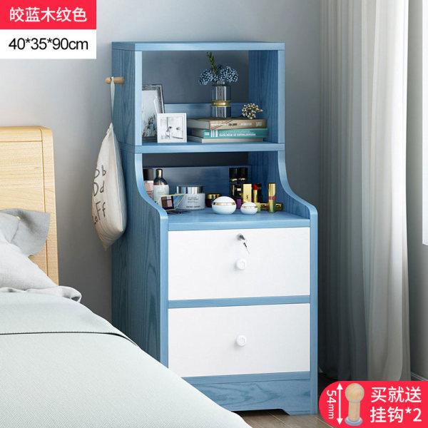 Ladder Bedside Table Minimalist Modern Bedroom Bedside Storage Shelf Bookshelf Locker Creative Multi-functional Storage Cabinet