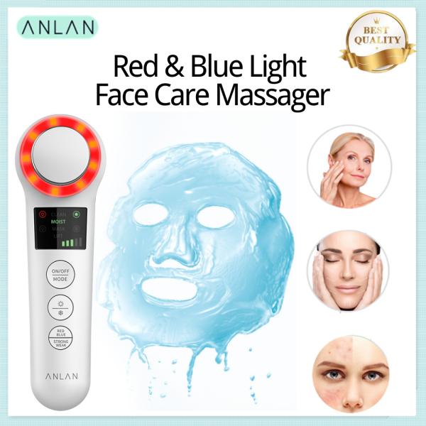 Buy ANLAN Ultrasonic Face Massager Iontophoresis EMS Cold Hot Skin Moisturizing Anti Aging  ❤ Singapore
