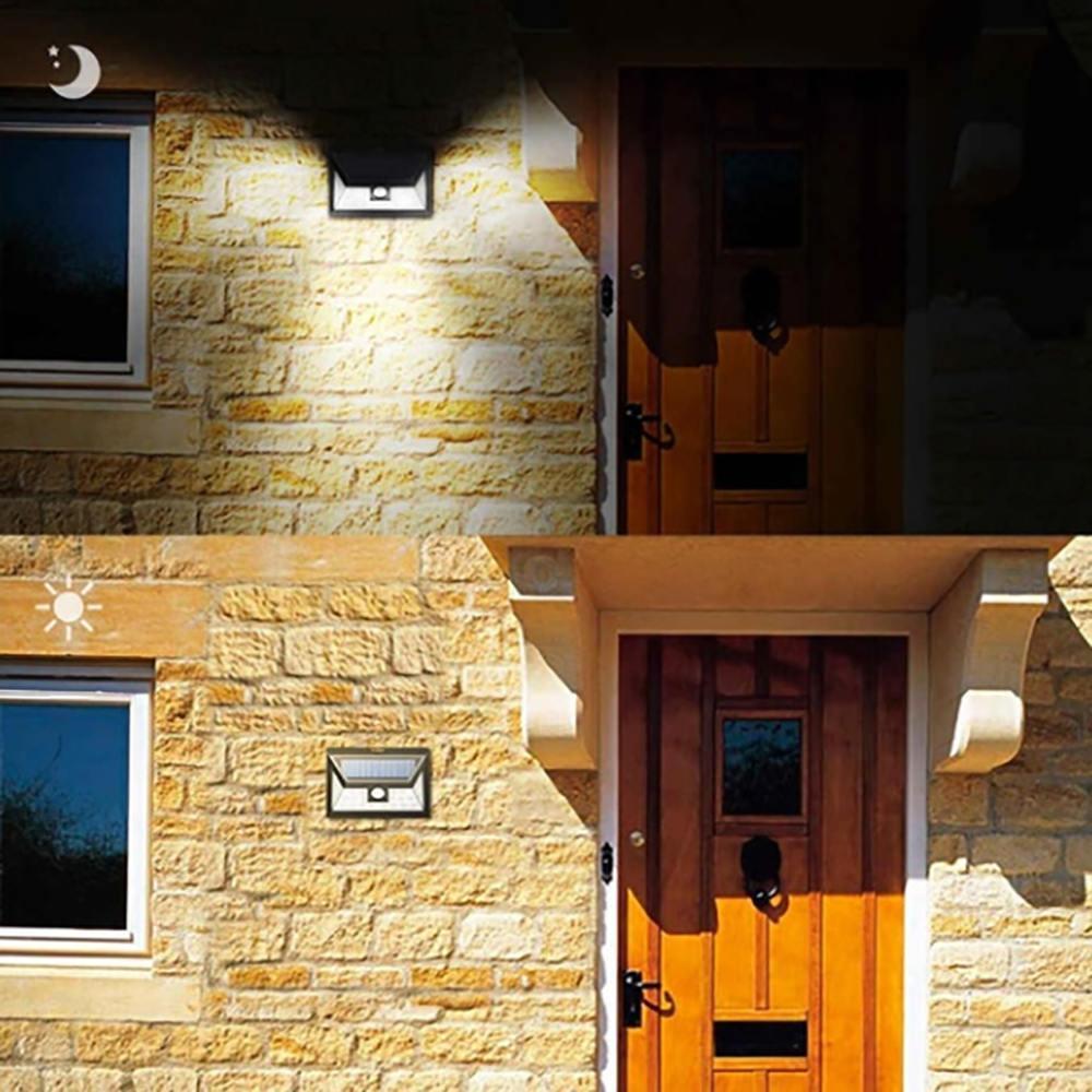 BULED Solar Powered PIR Motion Sensor Lights Garden Outdoor Security Light