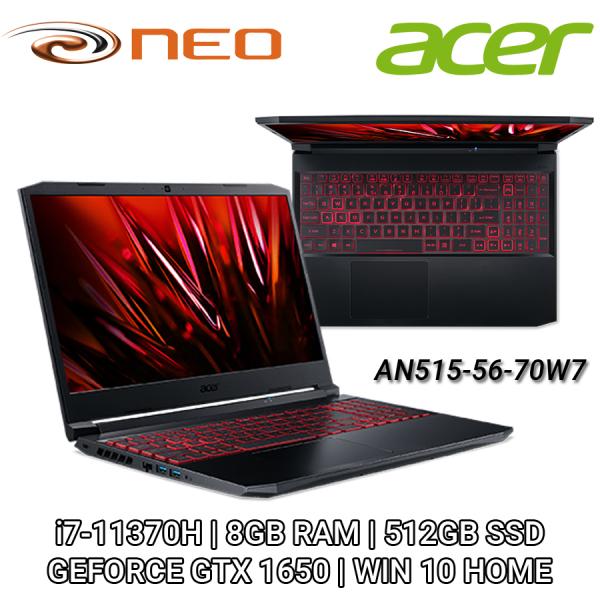 Acer Nitro 5 AN515-56-70W7 FHD IPS 144Hz 15.6   NVIDIA GTX1650   i7-11370H   8GB RAM   512GB SSD   WIN 10 HOME   2 YEARS CARRY IN LOCAL SINGAPORE WARRANTY - NH.QBZSG.002