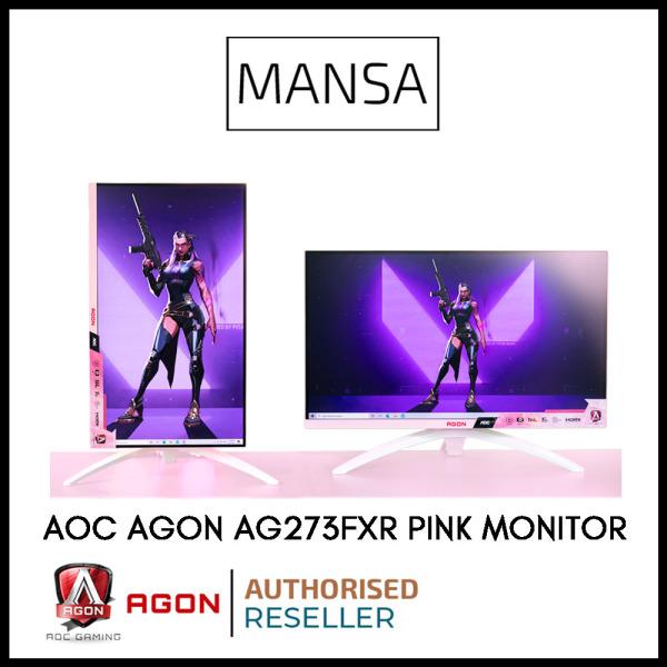 [Mansa Exclusive]: AOC AGON AG273FXR 27 Gaming Pink Monitor (144Hz, IPS, FHD)