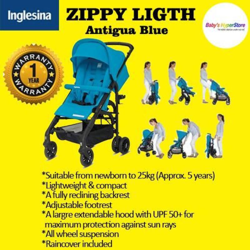 Inglesina Zippy Light - Antigua Blue - Lightweight & compact - Local seller warranty 1 YEAR Singapore