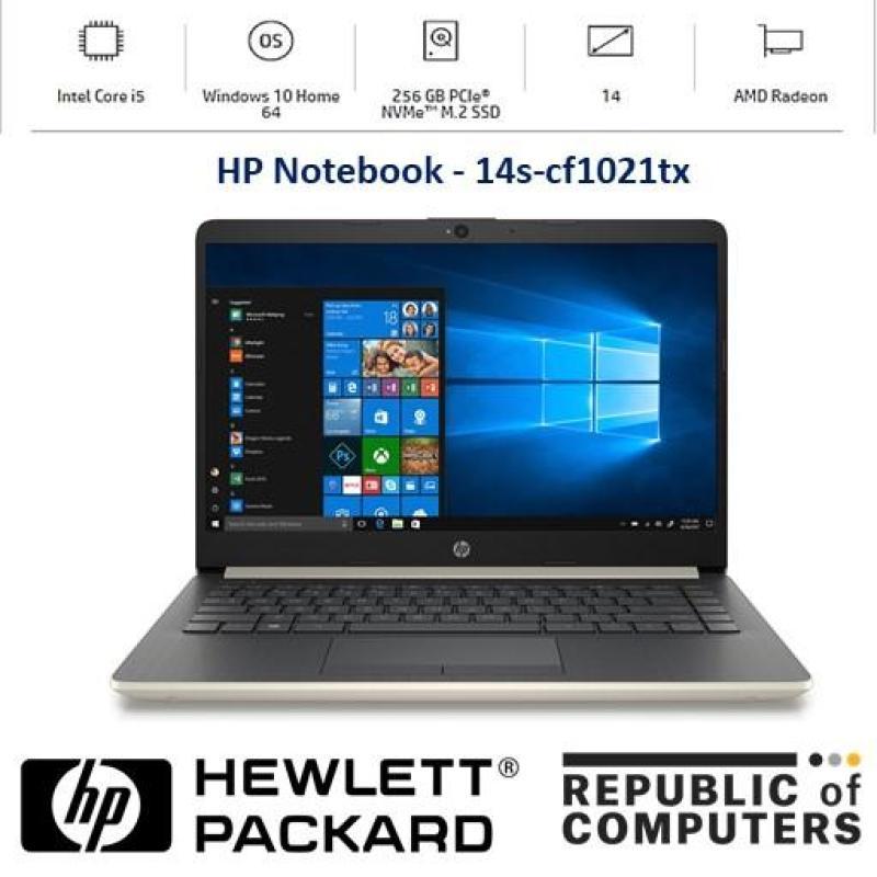 HP Laptop 14s - Cf1021TX (Pale Gold)/14s-Cf1023TX (Silver) [i5] [8GB RAM] [256GB SSD] [AMD Radeon™ 530 ][14 FHD]