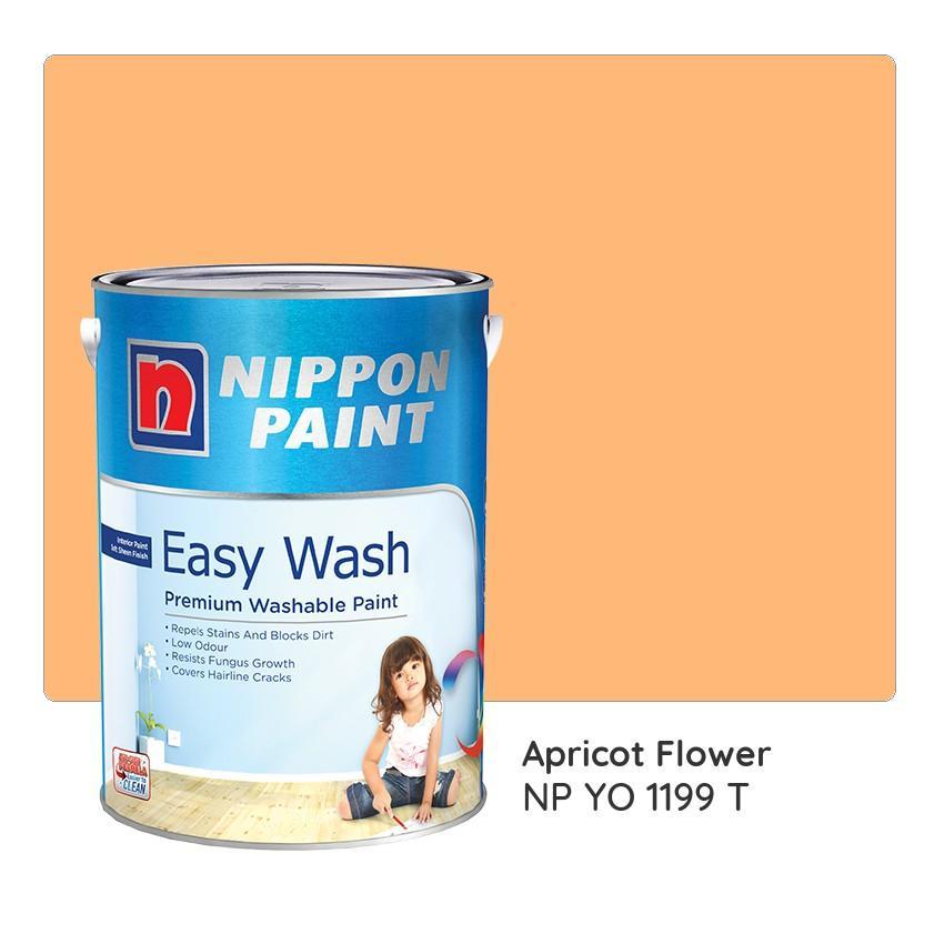 Nippon Paint Easy Wash NP YO 1199 T (Apricot Flower) 1L