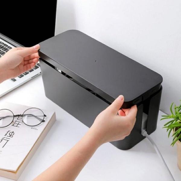 Cable Storage Organiser Box Extension Wire Socket Plug Organizer