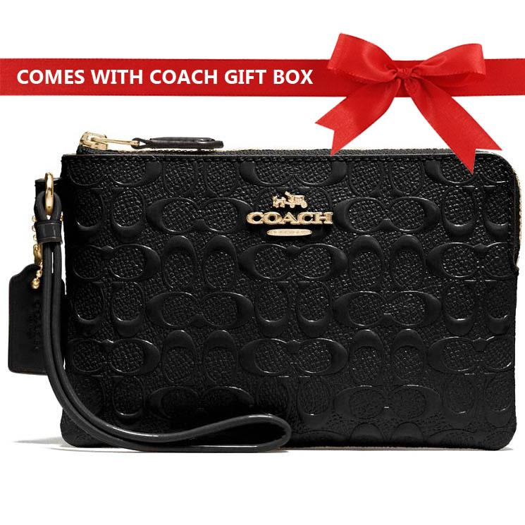 Coach Small Wristlet In Gift Box 100% Authentic Many Designs And Colours F58032 F34316 By Spreesuki.