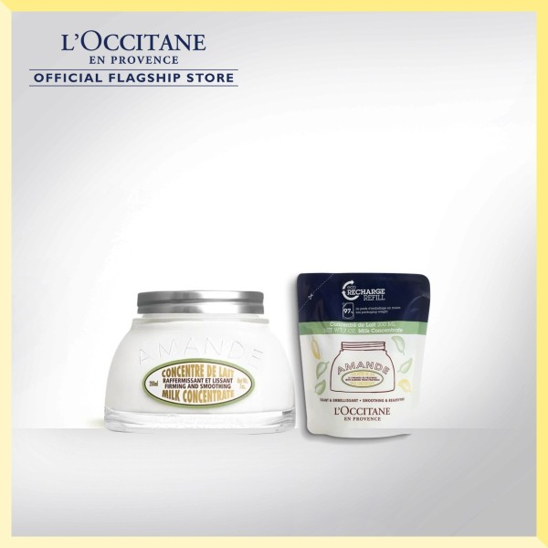 Buy [LAZADA EXCLUSIVE] LOCCITANE Almond Milk Concentrate Fill-better Set Singapore