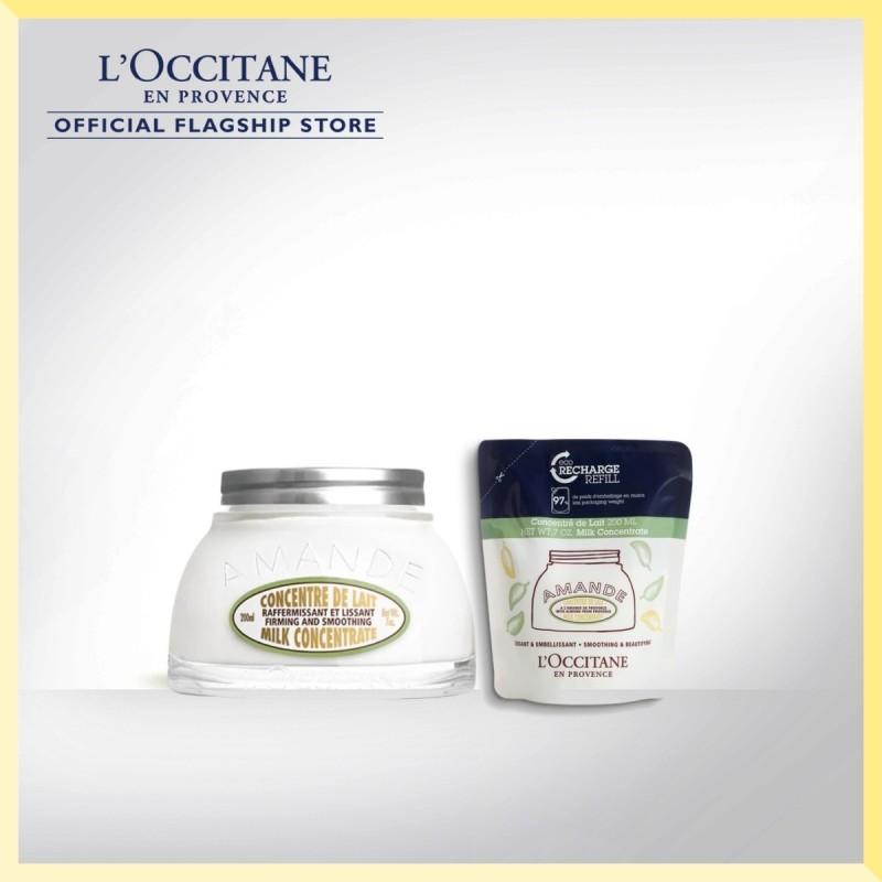 Buy [LAZADA EXCLUSIVE] LOCCITANE Almond Milk Concentrate Fill-better Set Singapore