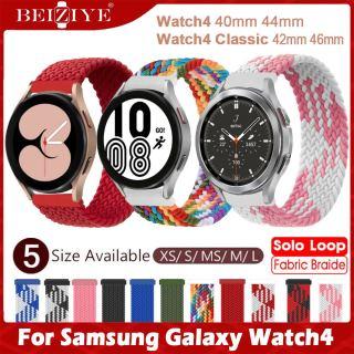 Dây đeo vòng đơn bện cho Samsung Galaxy Watch4 Dây đeo đồng hồ thông minh cổ điển 42mm 46mm cho Samsung Galaxy Watch 4 Dây đeo 40mm 44mm VẢI Nylon Vòng đeo thắt lưng đàn hồi thumbnail