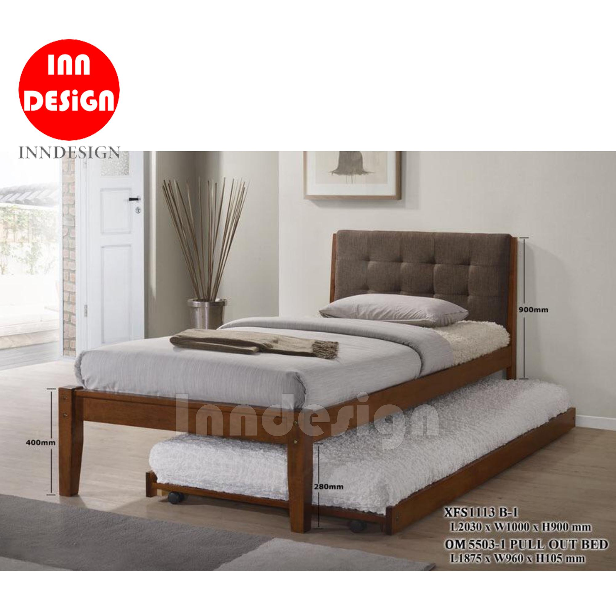Columba Wooded Single Bed (With/ Without Bed) (Free Installation)