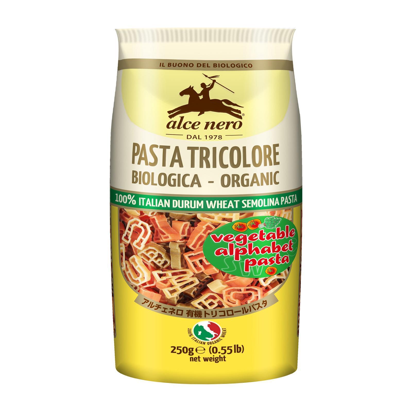 Alce Nero Organic Tripcolore Alphabet Pasta By Redmart.