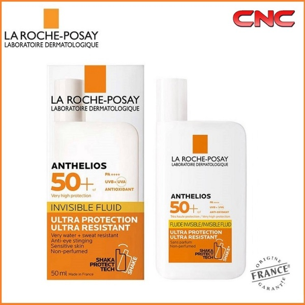 Buy La Roche-Posay Anthelios SPF50+ Invisible Shaka Fluid Ultra Protection Ultra Resistant 50ml Sun Protection Face Care For Sensitive Skin - Original / Non-Perfumed / Tinted Singapore