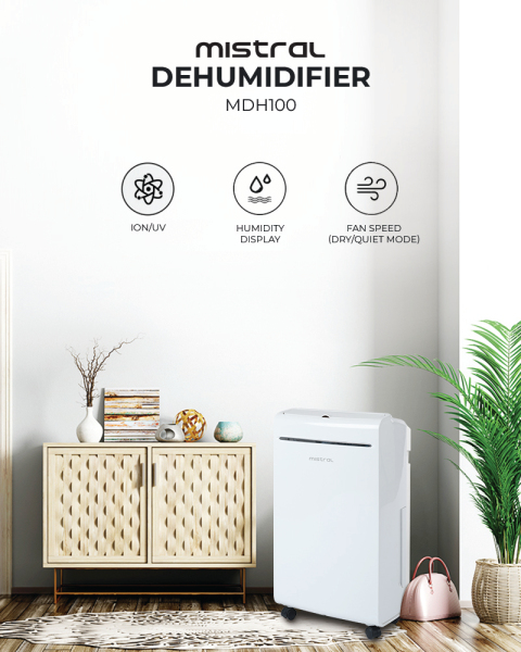 Mistral MDH100 Dehumidifier With Ionizer Singapore