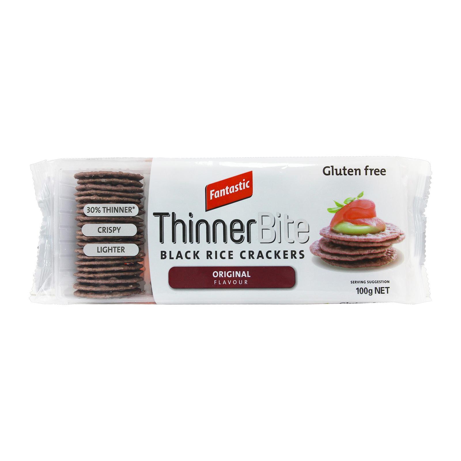 Fantastic Thinner Bite Black Rice Crackers Original Flavour Crackers