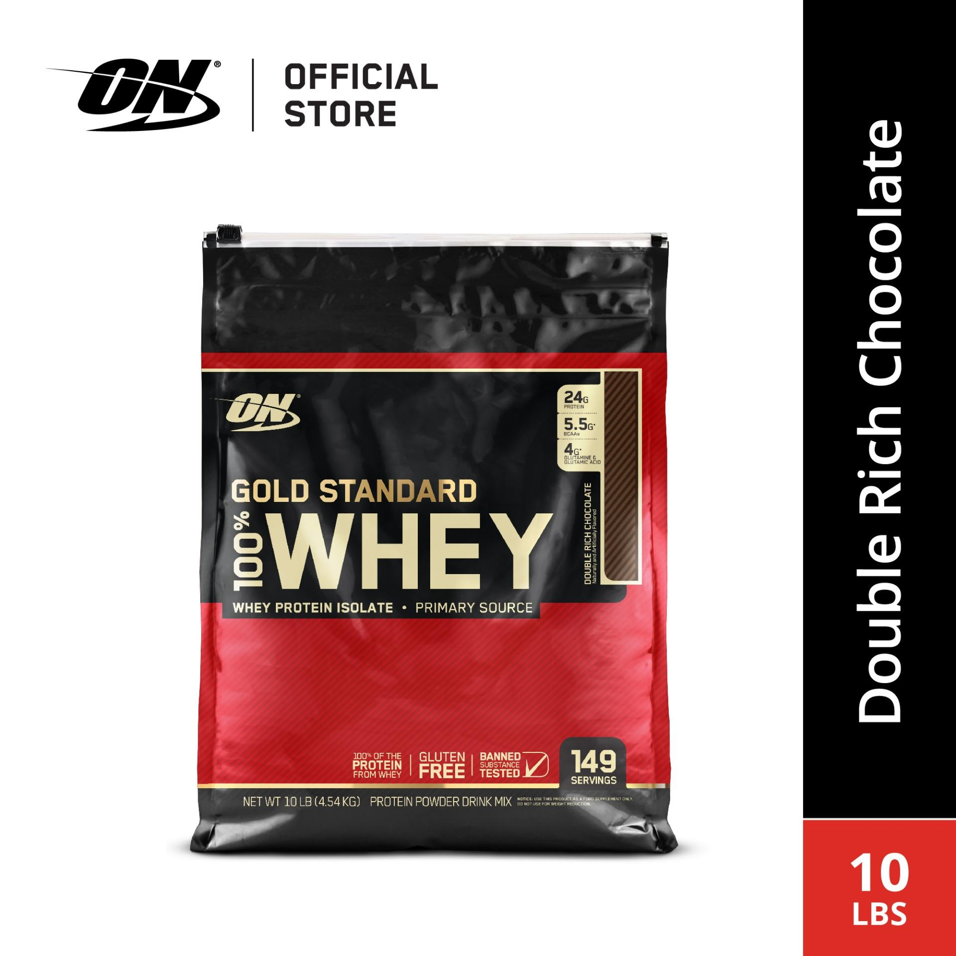 Optimum Nutrition Gold Standard Whey (10 Lbs) - Double Rich Chocolate By Body & Fit.