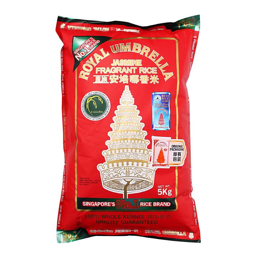 Royal Umbrella Jasmine Fragrant Rice 5kg By Chaphediam.