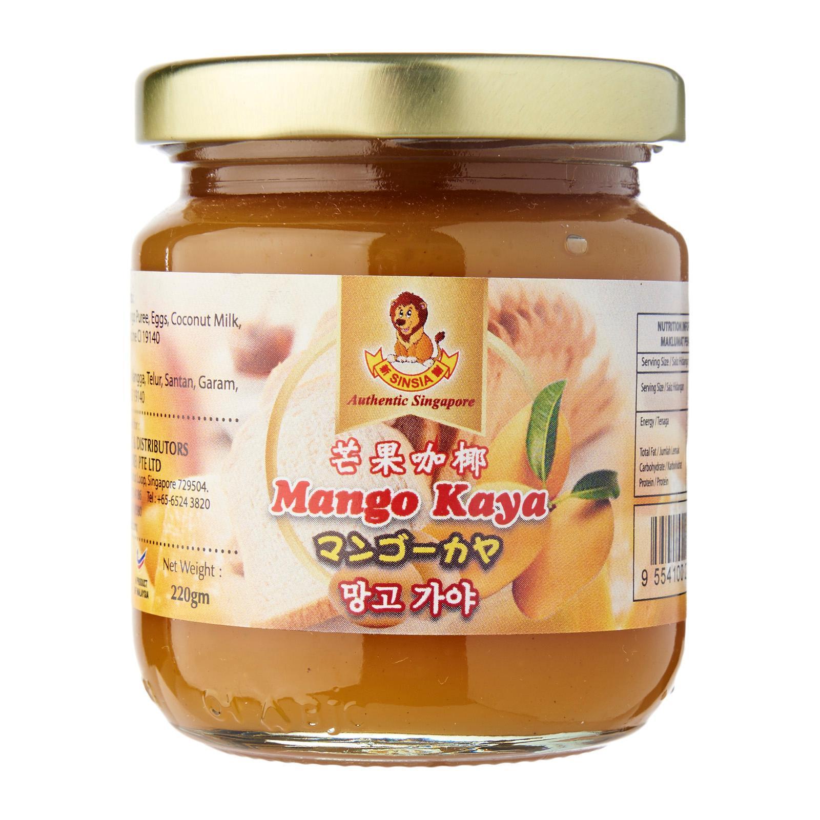 Sinsia Mango Kaya Bottle Jam By Redmart.