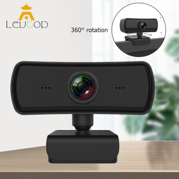 LEVTOP Webcams 1920*1080p Webcam HD Computer PC WebCamera with Microphone Rotatable Cameras for Live Broadcast Video Calling Conference Work