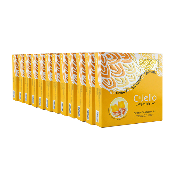 Buy [12-BOX PROMO] C-Jello Collagen Jelly Bar   Hydrolysed Marine/Fish Collagen   Gluten-Free   Hydrated, Youthful Skin   Brightening Whitening   Joint, Bone Health   Vitamin C   Boost Immune System, Immunity   Great For Muscle Building Singapore