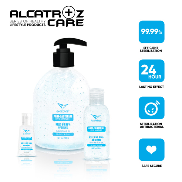 Buy [3 x 30ml Bundle] Alcatroz Hand Sanitiser Gel 75% Alcohol Anti-Bacterial Singapore