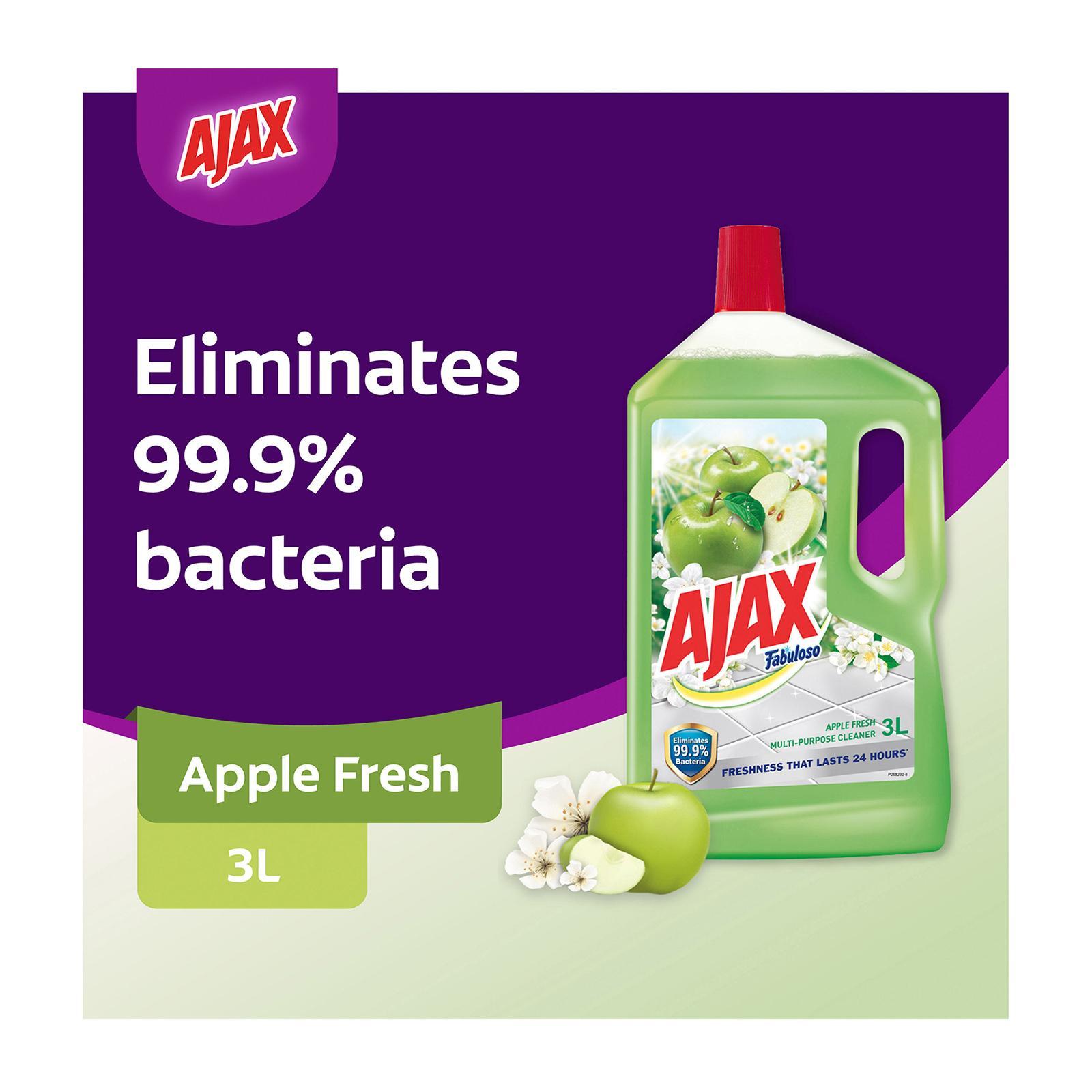Ajax Fabuloso Apple Antibacterial Multi Purpose Floor Cleaner 3L
