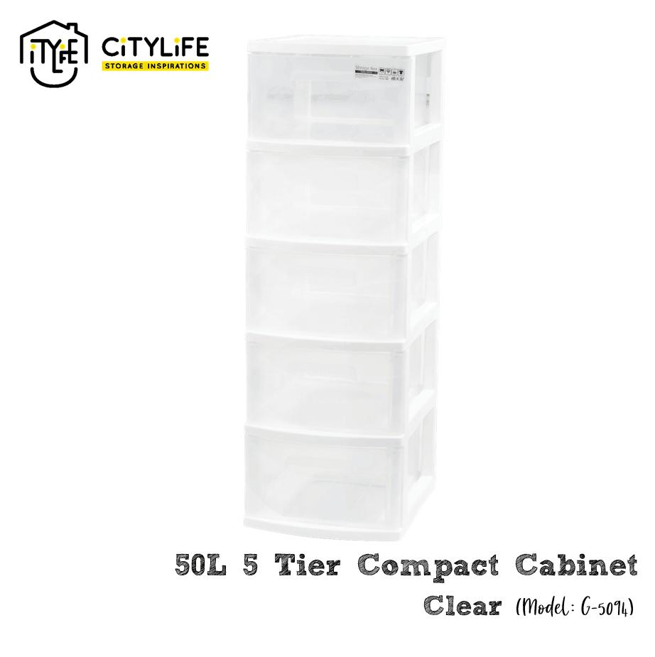 Citylife 50L 5 Tier Compact Cabinet