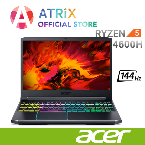 2020 Acer Nitro 5 Gaming | 15.6inch FHD 144Hz | Ryzen 5 4600H | GTX1650Ti | 4 Zone RGB | Win10 Home | 2Yrs Acer Warranty | AN515-44-R85S | Normal Delivery 3~5 days