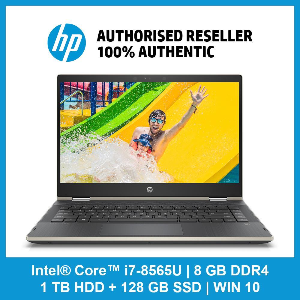 HP Pavilion x360 14-cd1035tx / i7-8565U / 8 GB RAM / 1 TB 5400 rpm SATA / 128 GB SSD / WIN 10