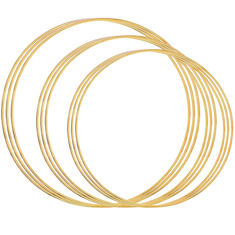 Mua 9Pcs Gold Dream Catcher Metal Rings Supplies, Metal Hoops Macrame Creations Ring for Crafts (8/10/12Inch)