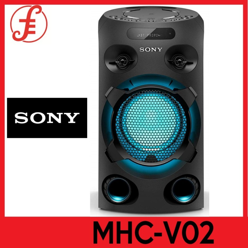 Sony MHC-V02 Home Audio Portable Party Speaker with Bluetooth Karaoke and Jet Bass Booster 1YW BY SONY (V02 MHCV02) Singapore