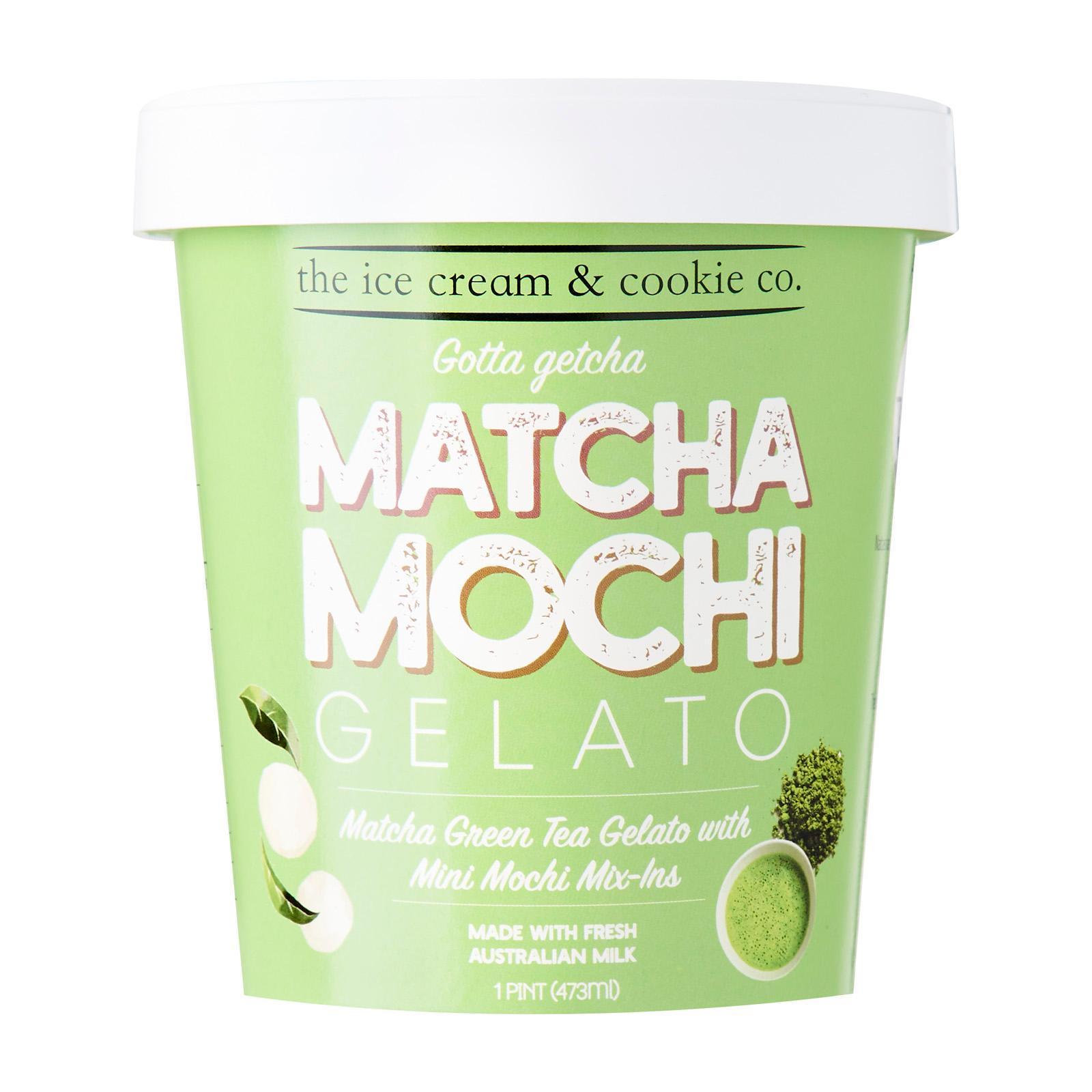 The Ice Cream & Cookie Co. Green Tea Matcha Mochi Gelato Pint
