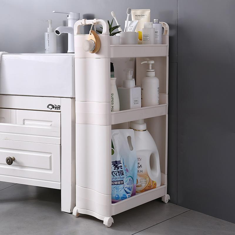 3 Layer Slim Shelf/Rack/Storage/Organizer for Bathroom/Kitchen/Room with Wheels