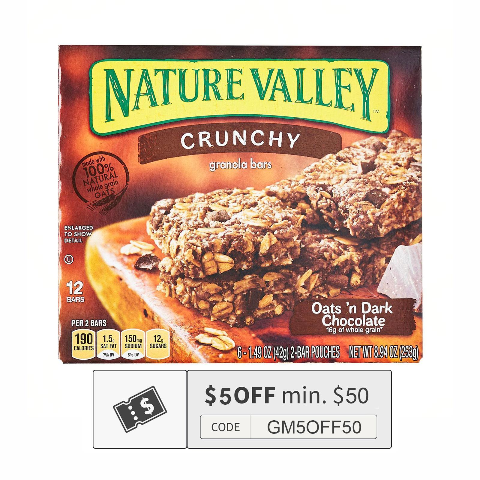 NATURE VALLEY Oats & Dark Chocolate Granola Bar 6sX42g